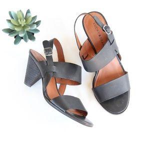 Lucky Brand Vaneesha Heeled Sandals Black 8